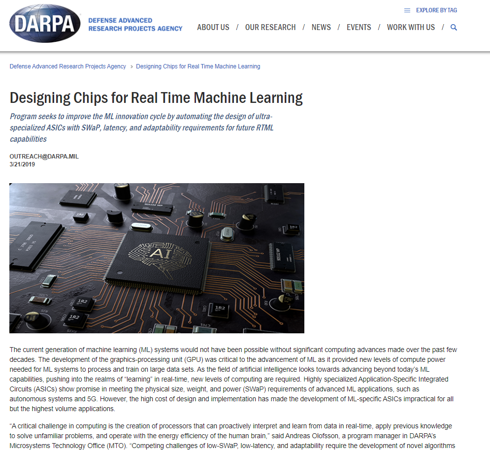 Designing Chips for Real Time Machine Learning