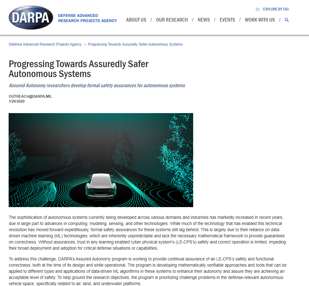Progressing Towards Assuredly Safer Autonomous Systems