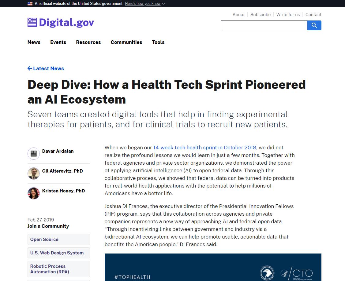 Deep Dive How a Health Tech Sprint Pioneered an AI Ecosystem