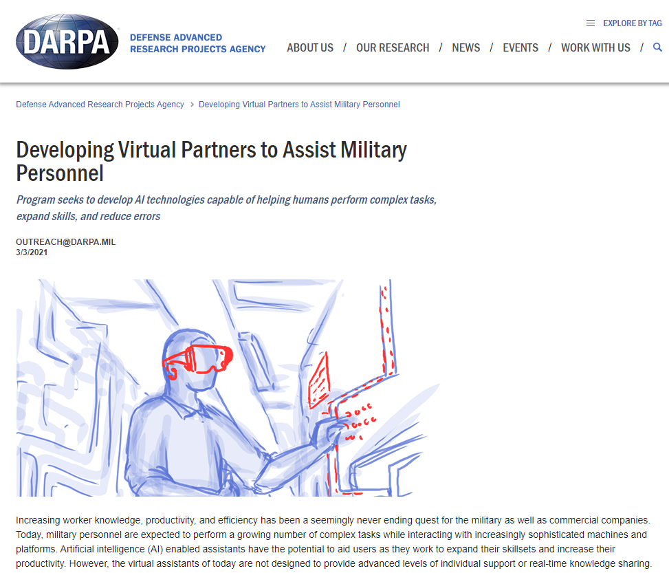 Developing Virtual Partners to Assist Military Personnel