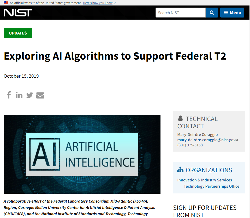 Exploring AI Algorithms to Support Federal T2