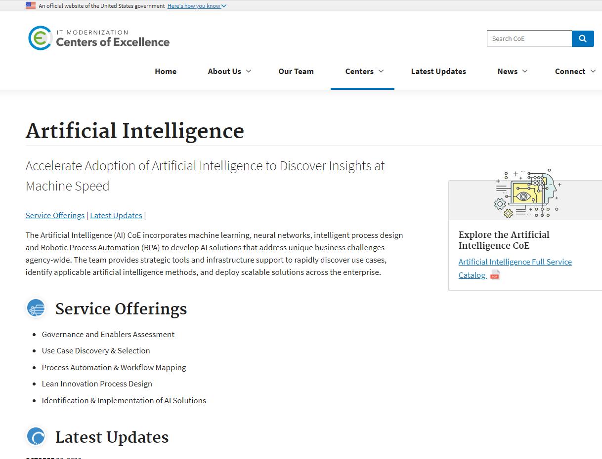 GSA AI Center of Excellence