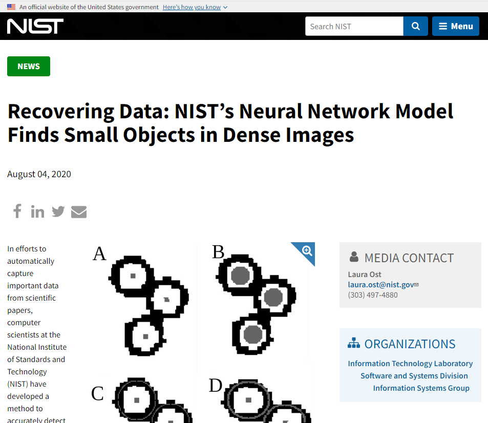 NIST's Neural Network Model Finds Small Objects in Dense Images