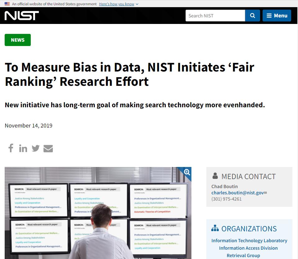 To Measure Bias in Data