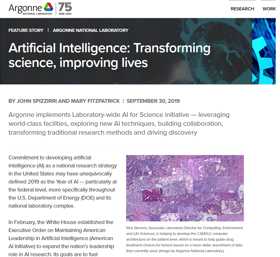 Artificial Intelligence: Transforming science, improving lives