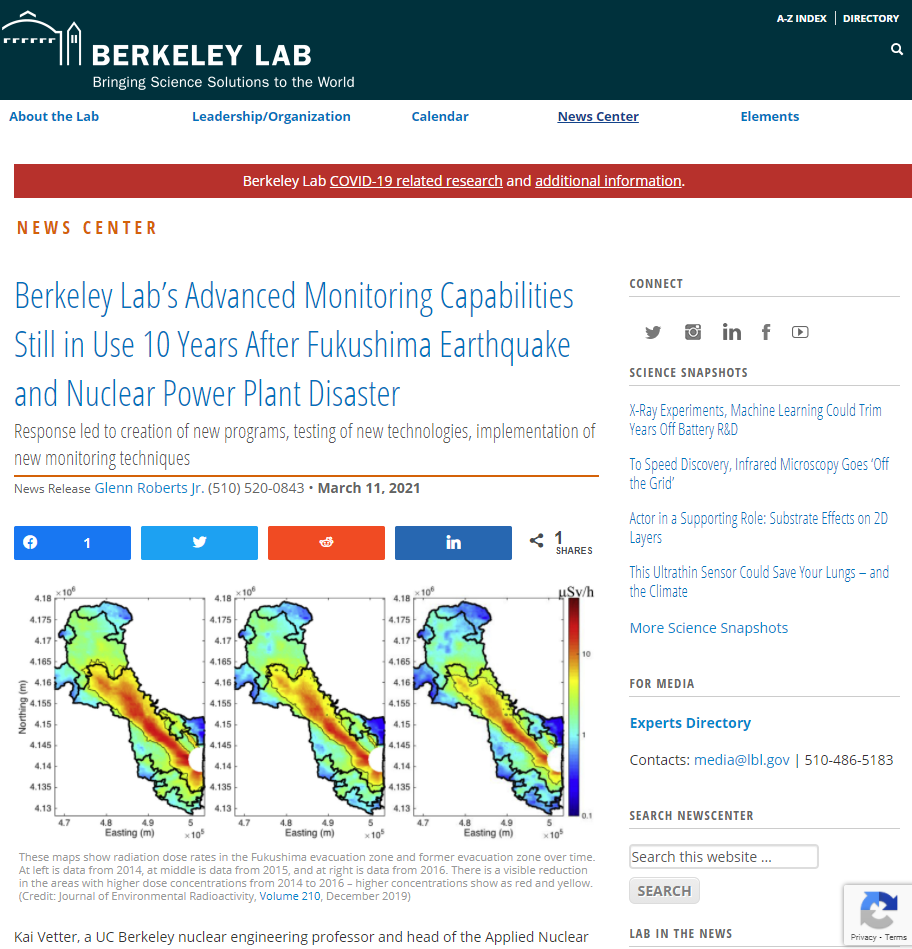Berkeley Lab's Advanced Monitoring Capabilities