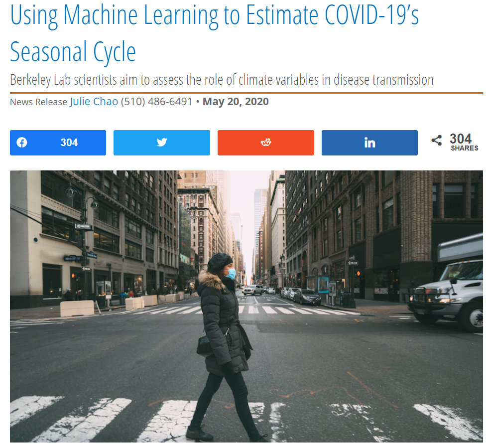 Using Machine Learning to Estimate COVID-19's Seasonal Cycle