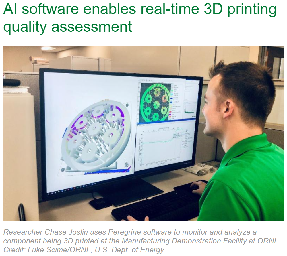 AI software enables real-time 3D printing quality assessment