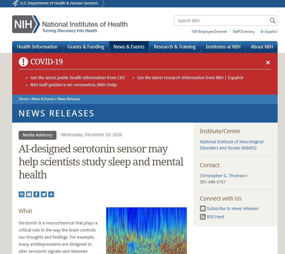 AI-designed serotonin sensor may help scientists study sleep and mental health