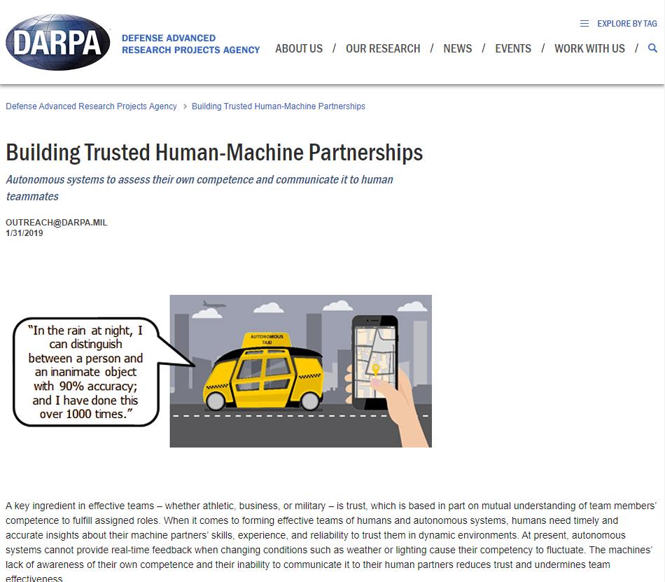 Building Trusted Human-Machine Partnerships