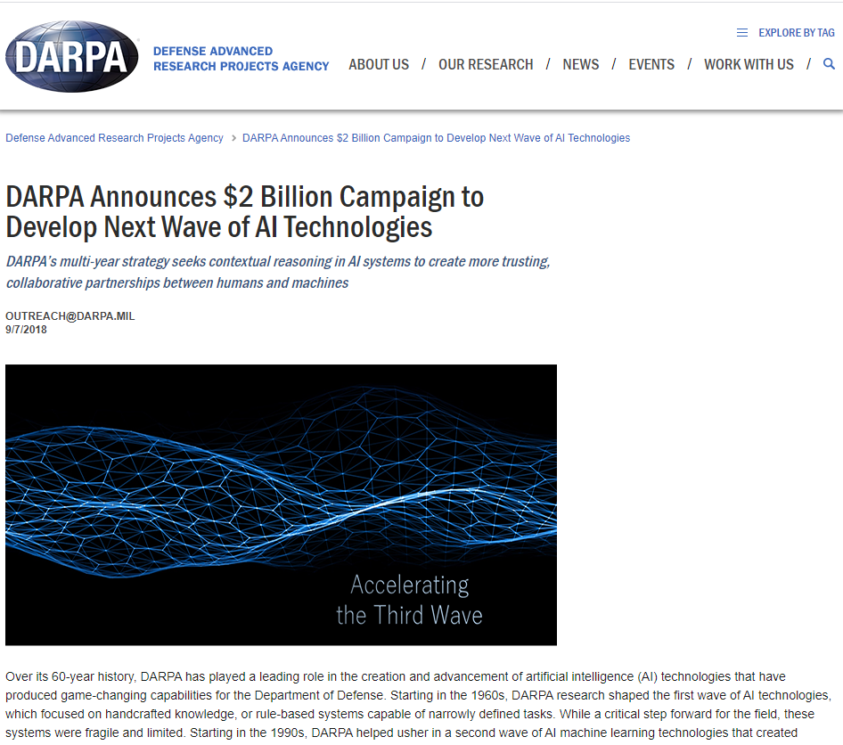 Campaign to Develop Next Wave of AI Technologies