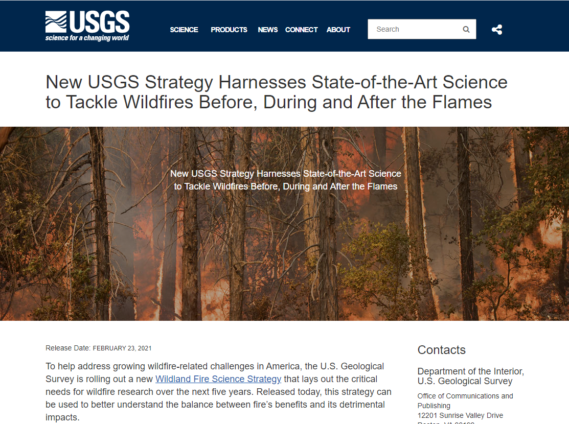 New USGS Strategy Harnesses State-of-the-Art Science