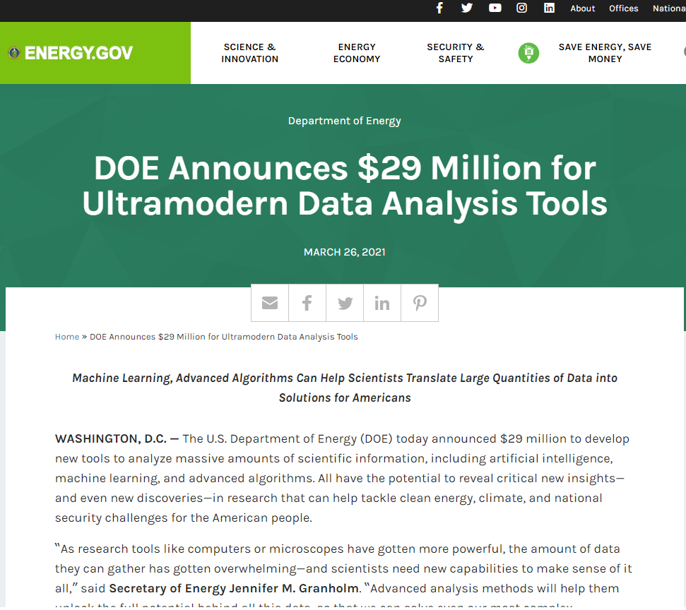 Ultramodern Data Analysis Tools