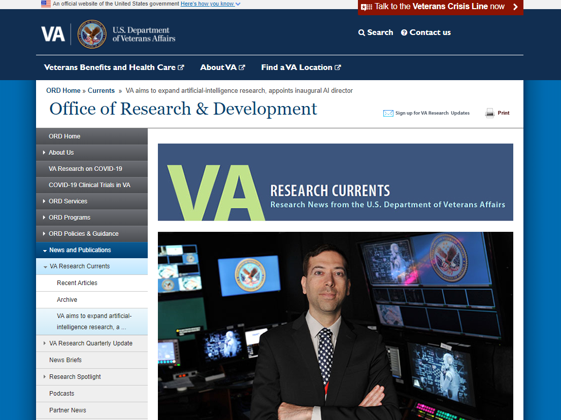VA aims to expand artificial-intelligence research