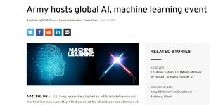 Army hosts global AI, machine learning event