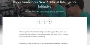 Hicks Announces New Artificial Intelligence Initiative