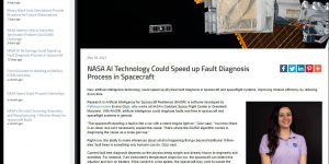NASA AI Technology Could Speed up Fault Diagnosis Process in Spacecraft