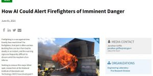 How AI Could Alert Firefighters of Imminent Danger