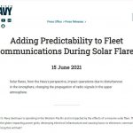 Adding Predictability to Fleet Communications During Solar Flares