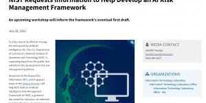 NIST Requests Information to Help Develop an AI Risk Management Framework