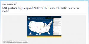NSF partnerships expand National AI Research Institutes to 40 states
