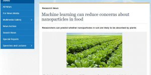 Machine learning can reduce concerns about nanoparticles in food