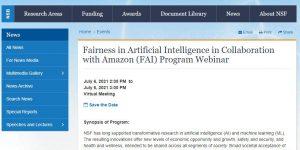 Fairness in Artificial Intelligence in Collaboration with Amazon (FAI) Program Webinar