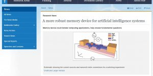 A more robust memory device for artificial intelligence systems