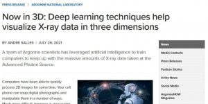 Now in 3D: Deep learning techniques help visualize X-ray data in three dimensions
