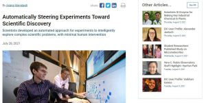 Automatically Steering Experiments Toward Scientific Discovery