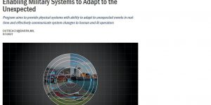 Enabling Military Systems to Adapt to the Unexpected