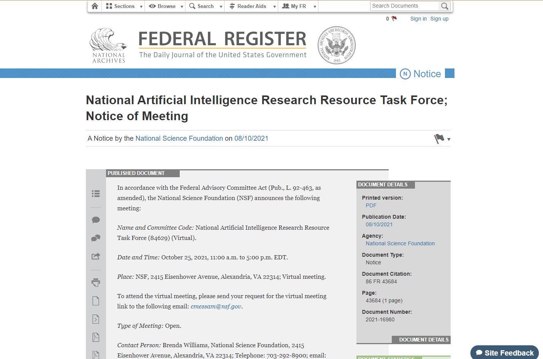 Federal Register Notice 86 FR 43684