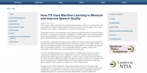How ITS Uses Machine Learning to Measure and Improve Speech Quality