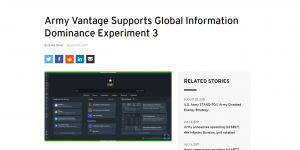 Army Vantage Supports Global Information Dominance Experiment 3