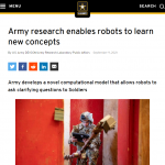 Army research enables robots to learn new concepts
