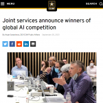 Joint services announce winners of global AI competition
