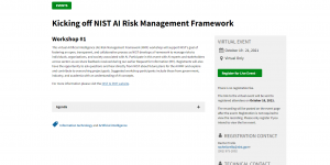 Kicking off NIST AI Risk Management Framework
