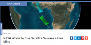 NASA Works to Give Satellite Swarms a Hive Mind