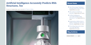Artificial Intelligence Accurately Predicts RNA Structures, Too