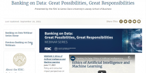 Banking on Data: Ethics of Artificial Intelligence and Machine Learning