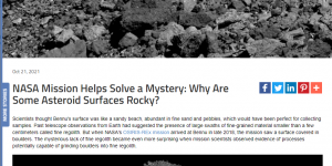 NASA Mission Helps Solve a Mystery: Why Are Some Asteroid Surfaces Rocky?