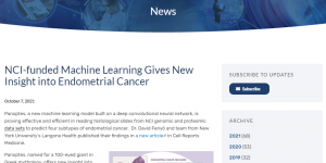 NCI-funded Machine Learning Gives New Insight into Endometrial Cancer