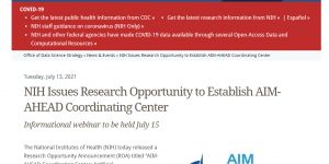 NIH Issues Research Opportunity to Establish AIM-AHEAD Coordinating Center
